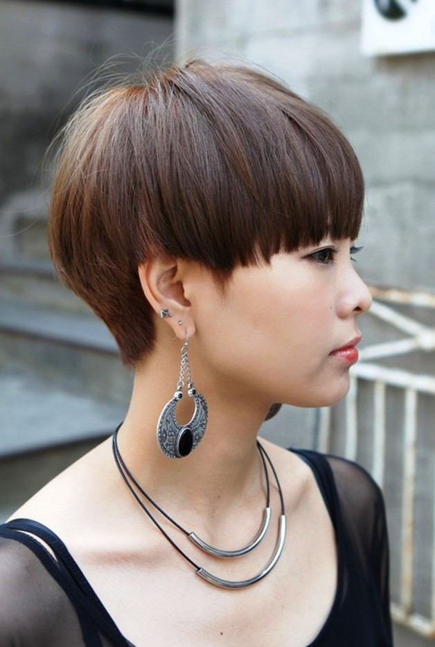 Modern Short Japanese Haircut With Bangs