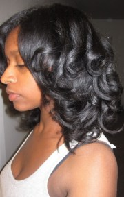 natural hairstyles roller set