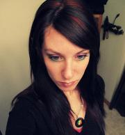 red and black hairstyles long
