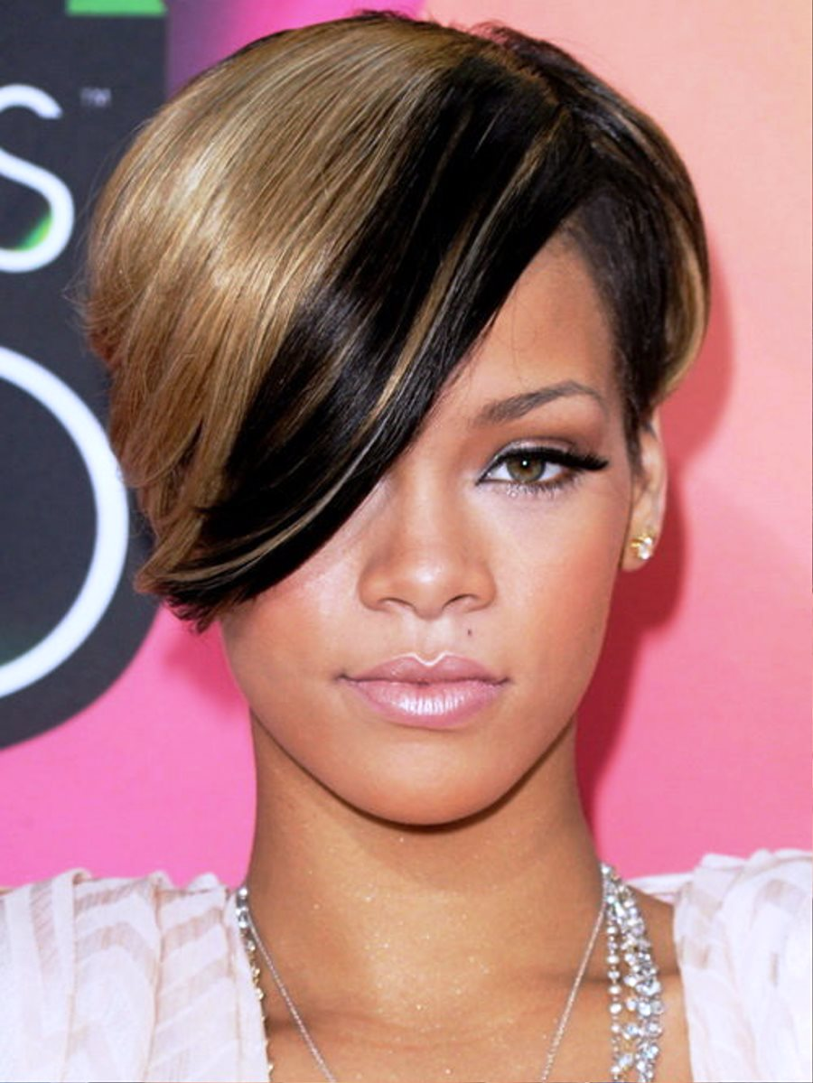 Pictures Of Rihanna Brown Short Hairstyles