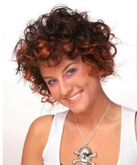 Pictures of Short Hairstyles For Curly Hair Color