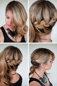 Pictures of Side Swept French Braid Hairstyle For Wedding
