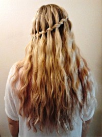 Stylish Waterfall Braid Hairstyle | Behairstyles.com