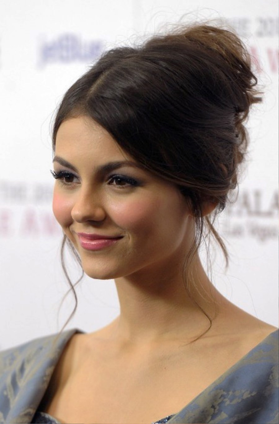 Pictures Of Victoria Justice Cute French Twist Updo Hairstyle