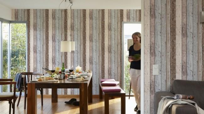 Sloophout  steigerhout behang online  Behangwebshopnl