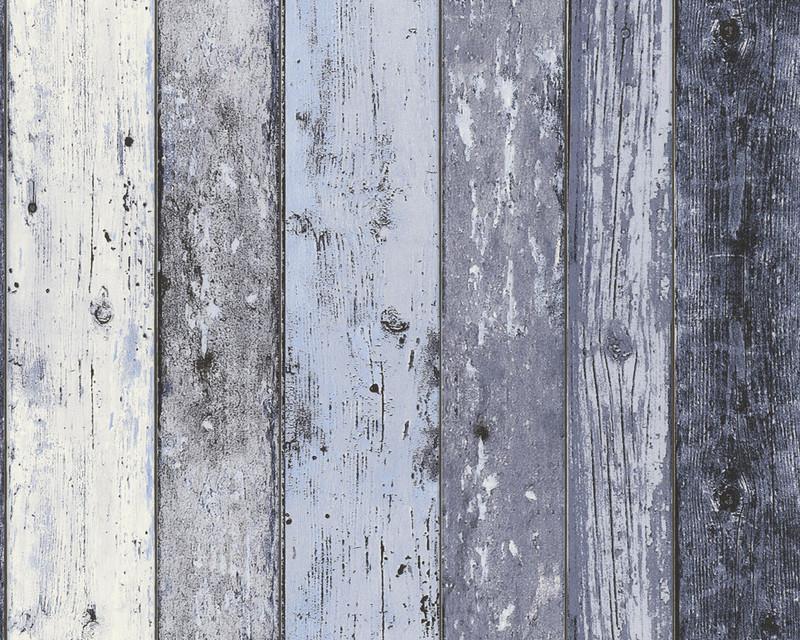 Steigerhout Vliesbehang Blauw Grijs Behangwebshop Nl Behangwebshop Nl