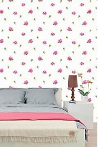 Roze behang voor een meisjesslaapkamer  Behang ideen