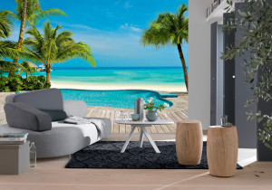 Tropical sfeer met fotobehang  Behang ideen tips en