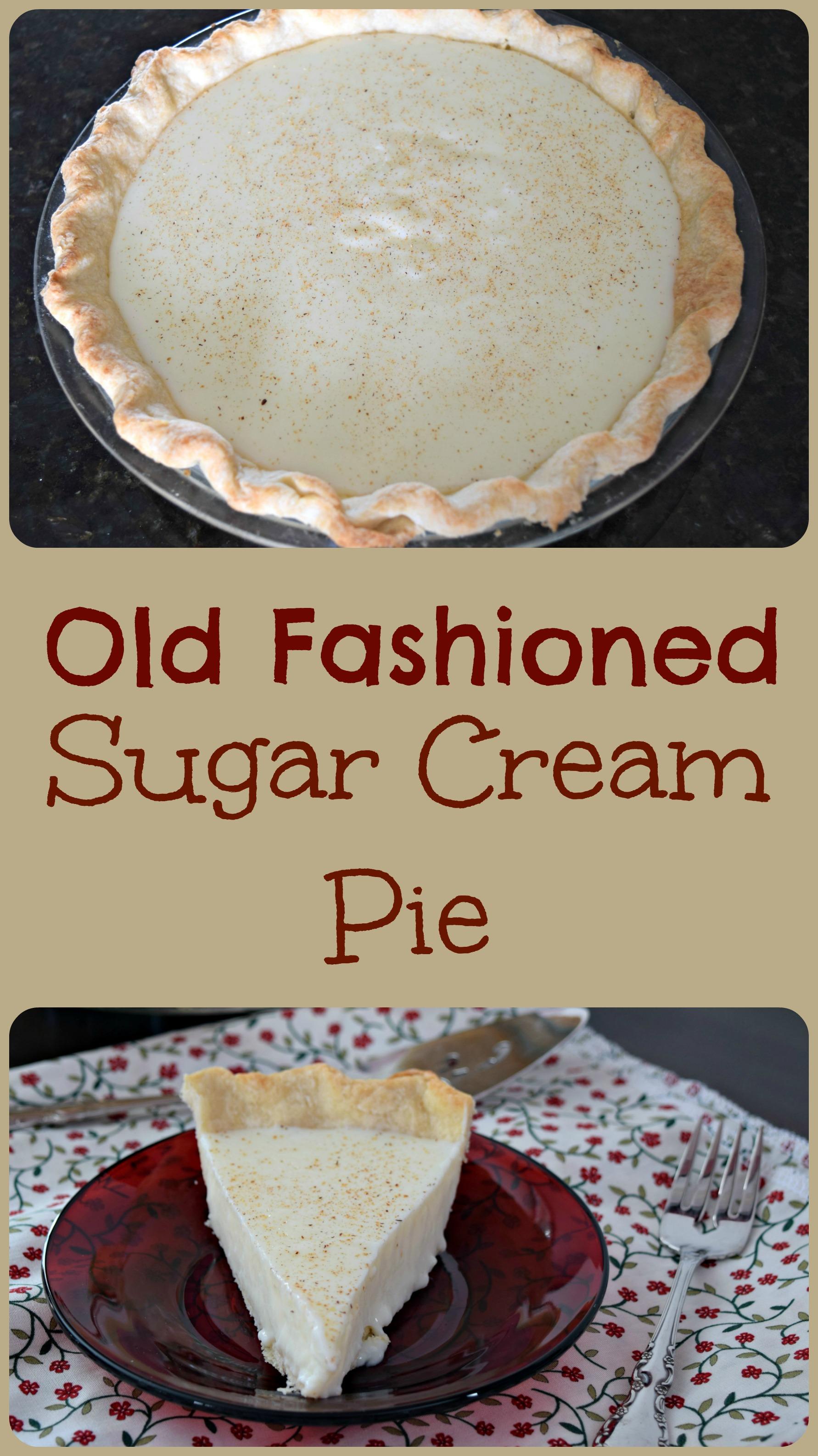Old Fashioned Sugar Cream Pie Pi E Day 2 0 Be Happy And Do Good