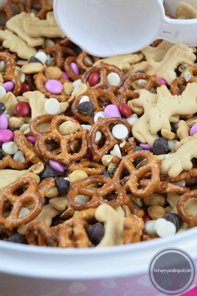 Large Batch Valentine's Snack Mix: Perfect for Classroom Treat Bags!