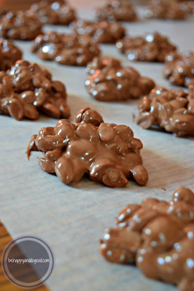 homemade chocolate covered peanuts