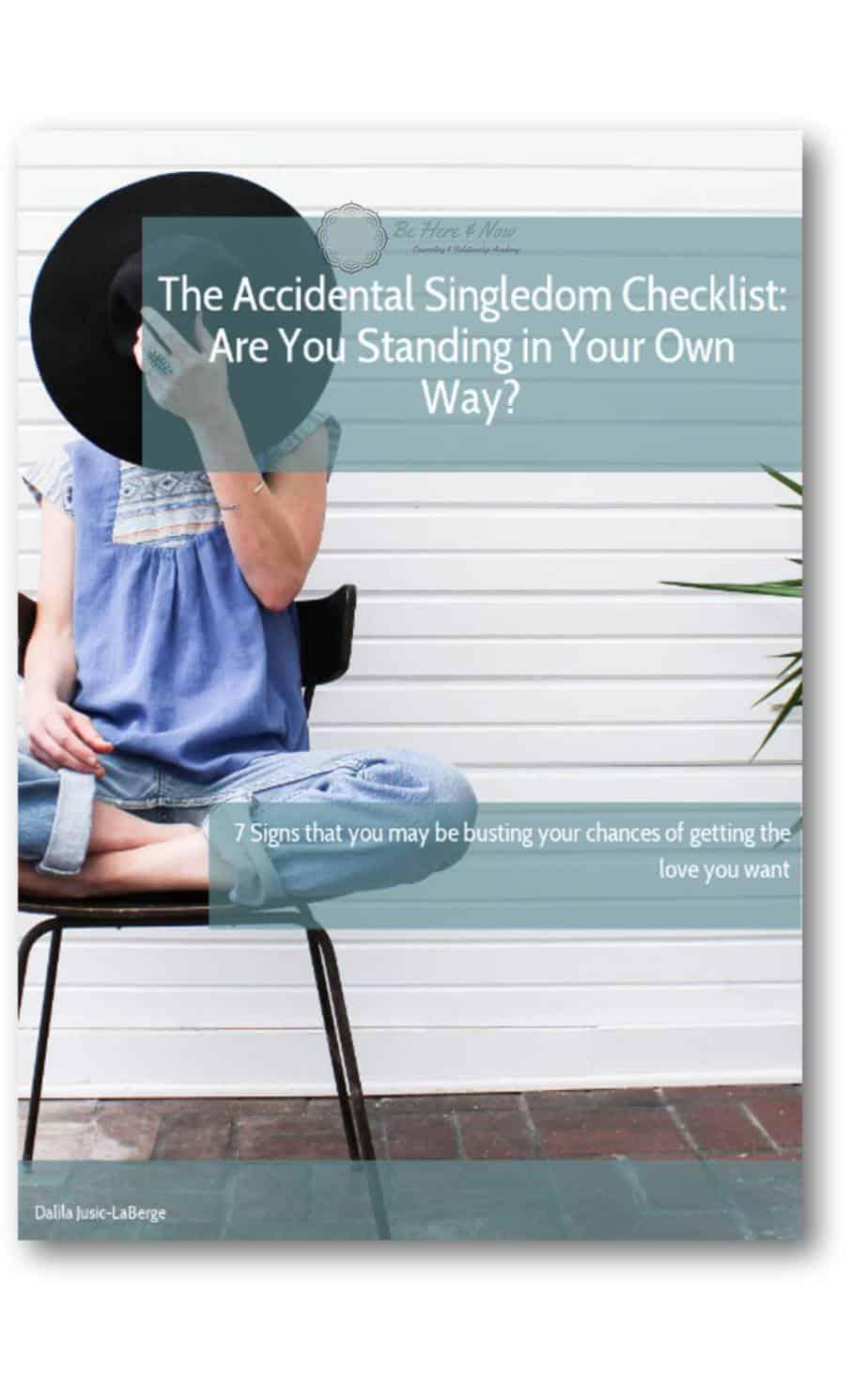 Accidental Singledom Checklist