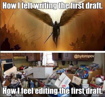 finishing the first draft