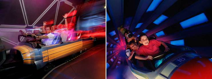 Space Mountain in Disneyland & Magic Kingdom