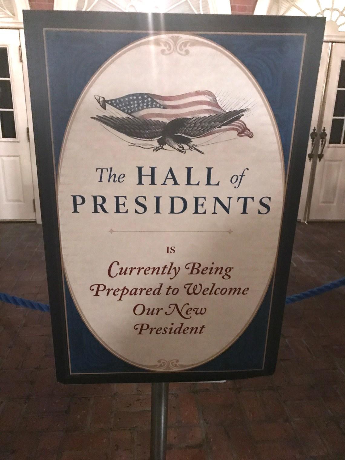 Hall of Presidents Refurb