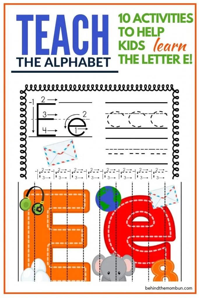 Letter E Worksheets Free Printable Pack Behind The Mom Bun