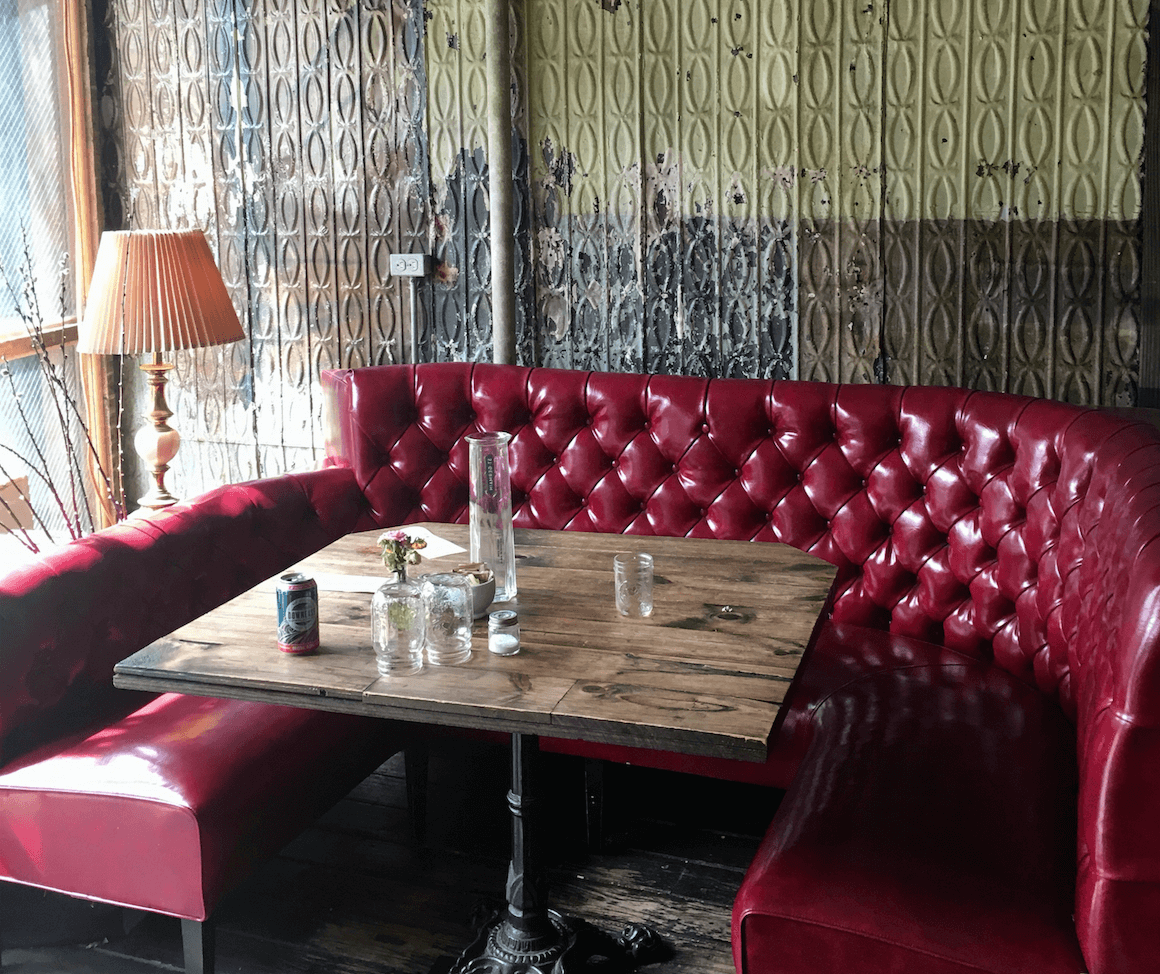red sofa cafe baku white country tables another italian restaurant in greenpoint milk and roses