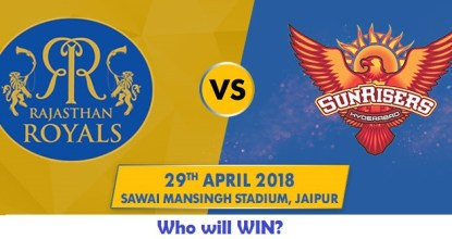 Rajasthan Royals vs Sunrisers Hyderabad | 28th Match | Dream11 Team 45 Behind History