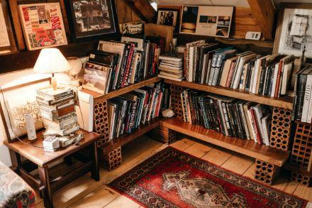 Book corner with rug