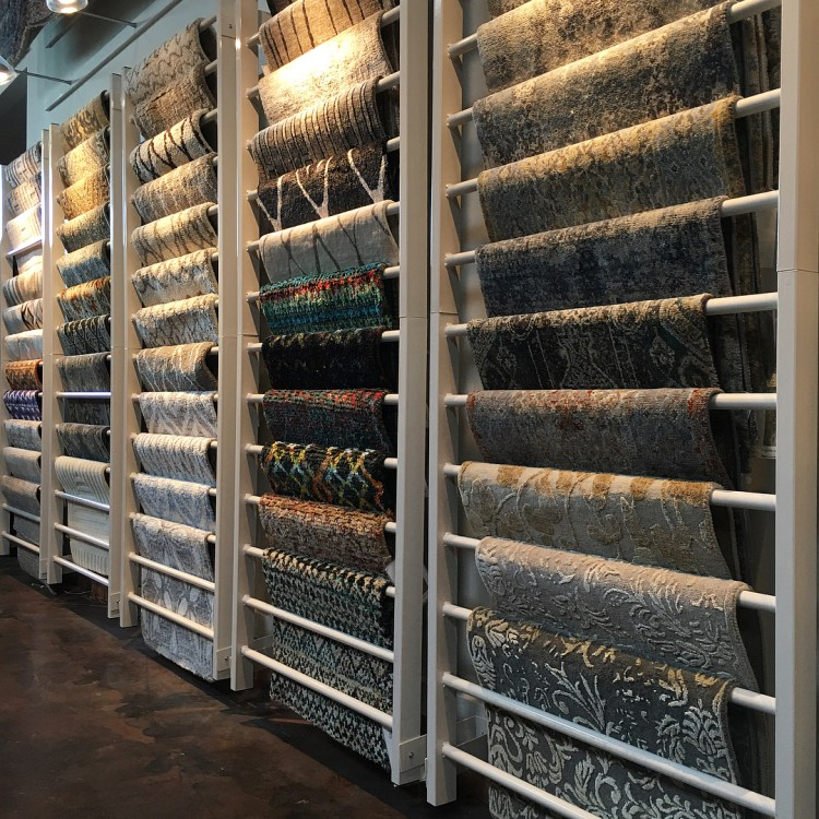 Transitional Rug Sample Rack