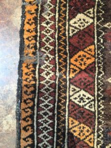 Persian Rug With Age Related Damage