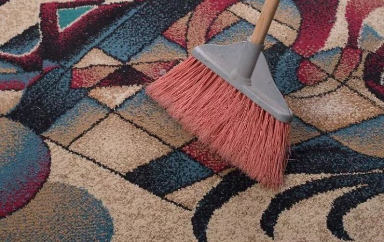 Sweeping a rug