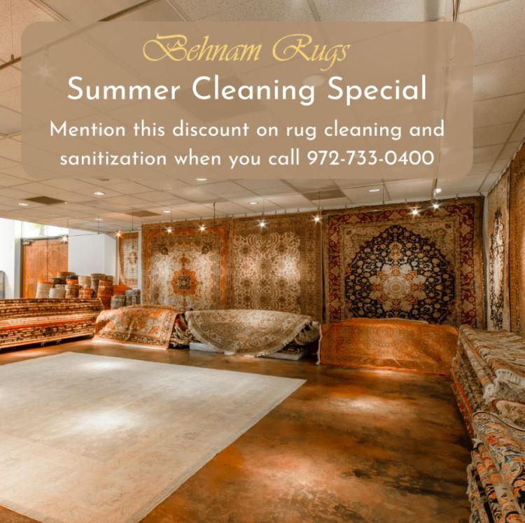 Discount on summer rug cleaning