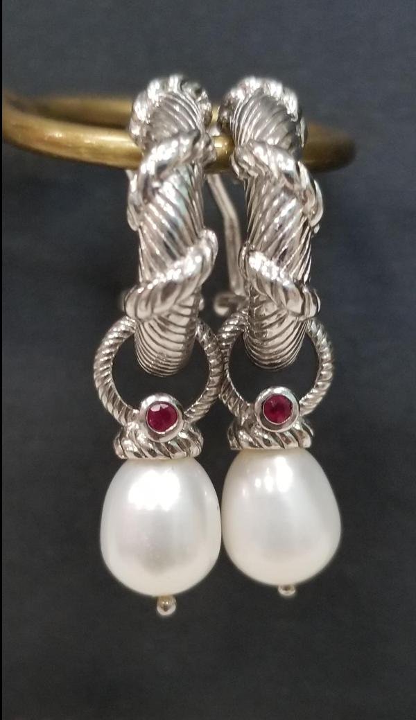 Judith Ripka Silver Hoop And Charms Earrings Behold