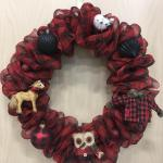 Buffalo Plaid Deco Mesh Bubble Wreath Behold Jewelry Designs West Hartford Ct