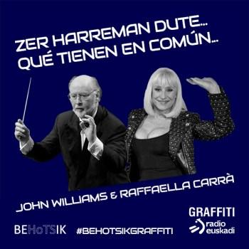 #BehotsikGraffiti Raffaella Carrà John Williams