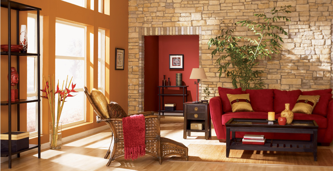 burnt orange paint color living room small styling ideas painted inspiration & project gallery | behr