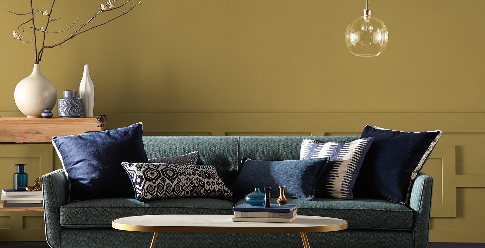 Mid Century Modern Living Room Yellow Living Room Gallery Behr