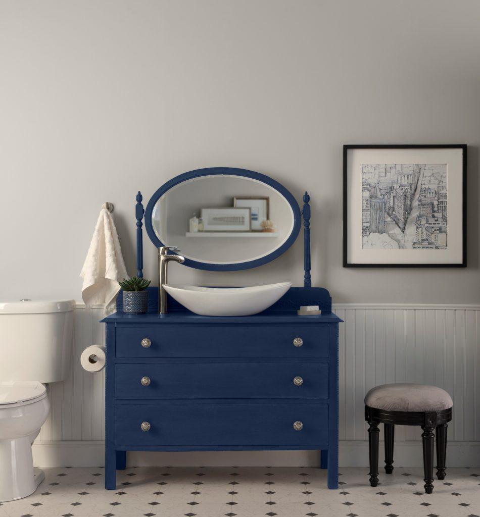 timeless blue vanity dresser