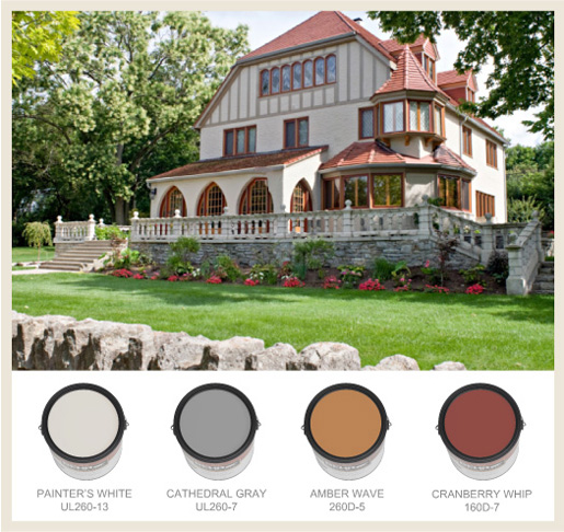 Colorfully Behr Farmhouse Chic: Tudor Style Home Paint Colors