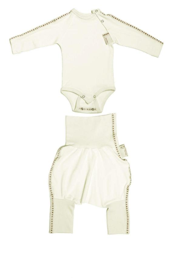 Seamless organic bamboo baby clothes for sensitive skin