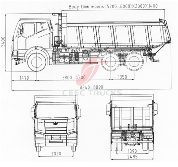 Buy Best Beiben Dump Truck 2534K 25ton Tipper Truck For