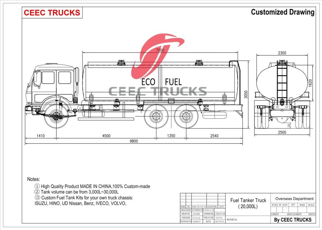 High Quality Beiben 20 CBM Fuel Truck,Cheap Beiben 20 CBM