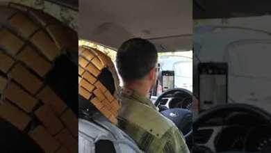 صورة مع سائق طاجيكي في موسكو