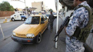 صورة القوات الامنية العراقية تغلق شوارع العاصمة بغداد .