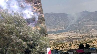 صورة تجدّد القصف التركي على قرى دهوك.