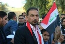 صورة (بالفيديو والصورة) إغتيال ابرز ناشطي الاحتجاجات الشعبية في كربلاء.