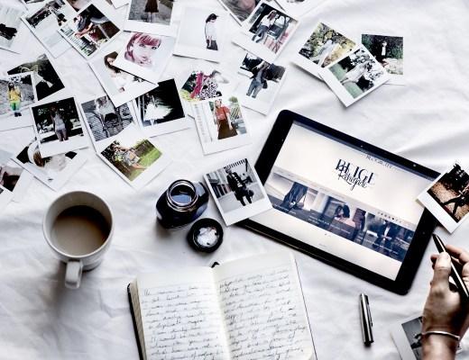 Polaroid Collage flatlay