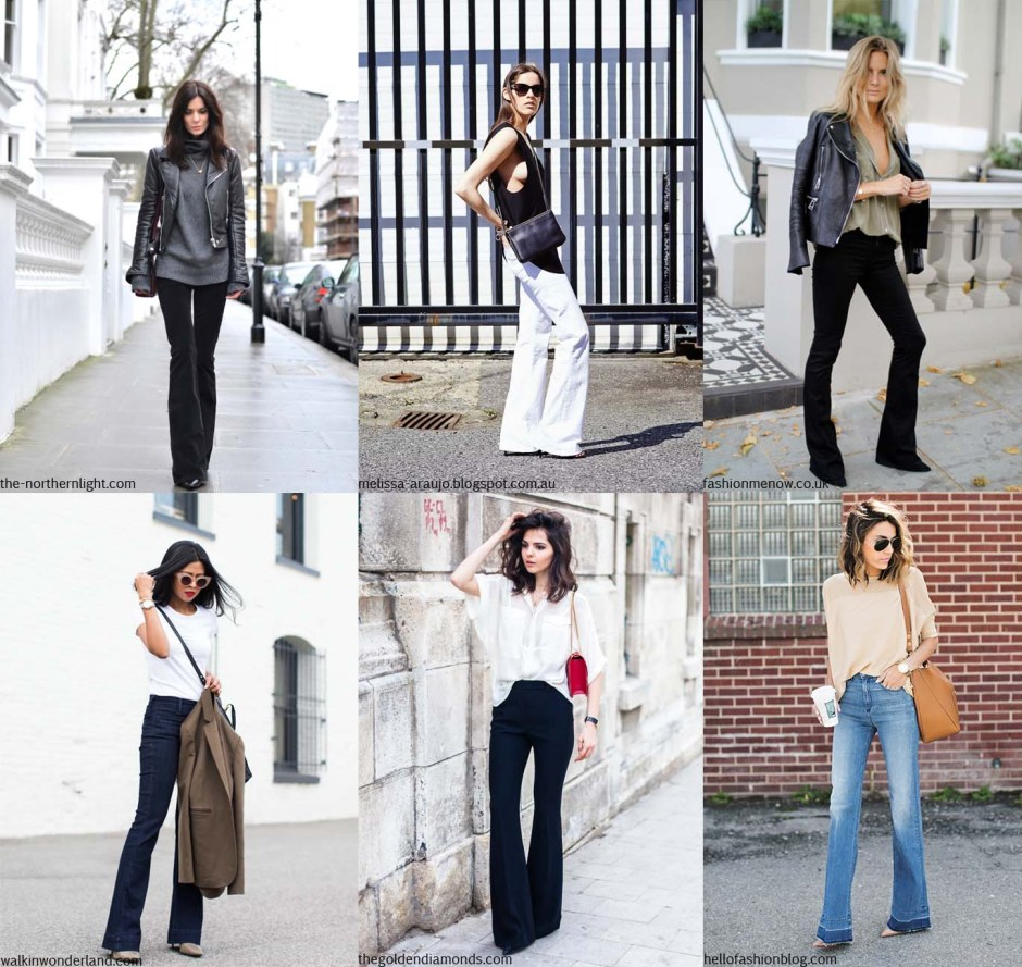 bloggers are wearing flared jeans beige renegade