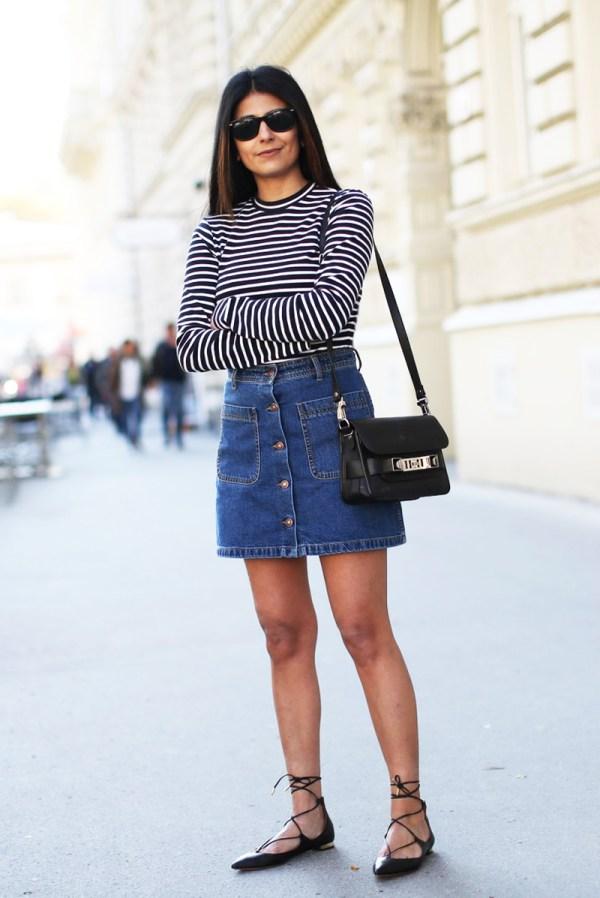 Fashion Landscape Button Front Skirt