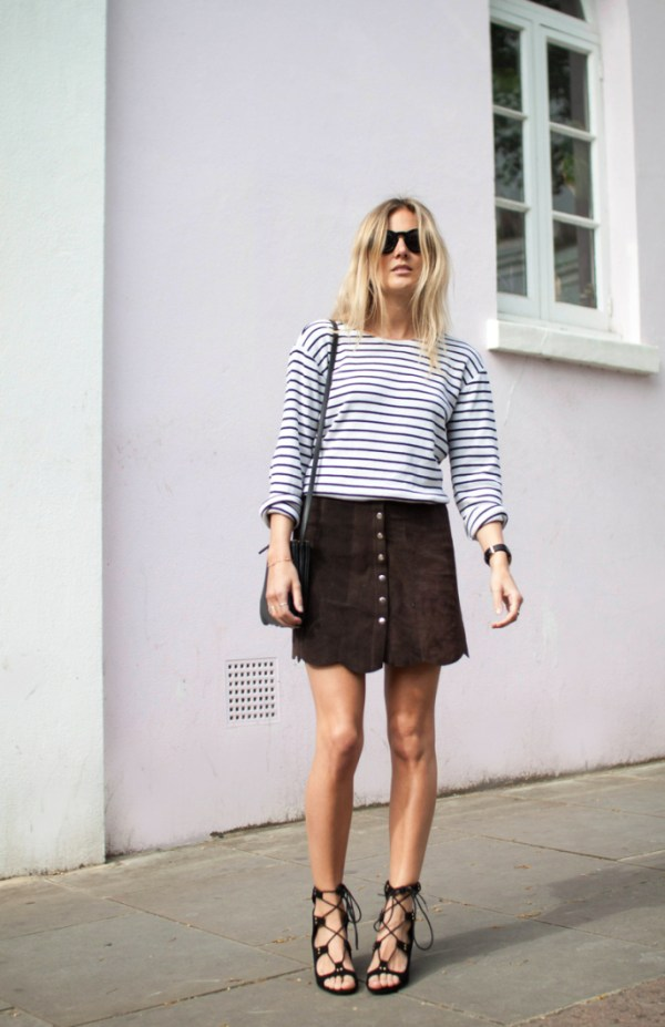 Fashion Me Now Button Front Skirt