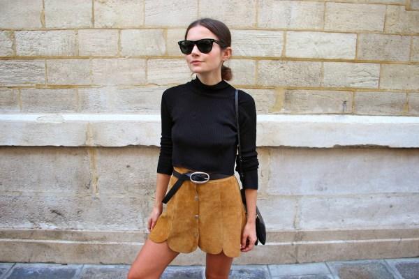 Life of Boheme Button Front Skirt