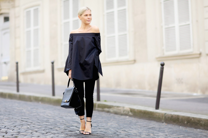 4e5d1fbe1a0 Blogger Style Watch: The Off-Shoulder Top   Minimal Blogs