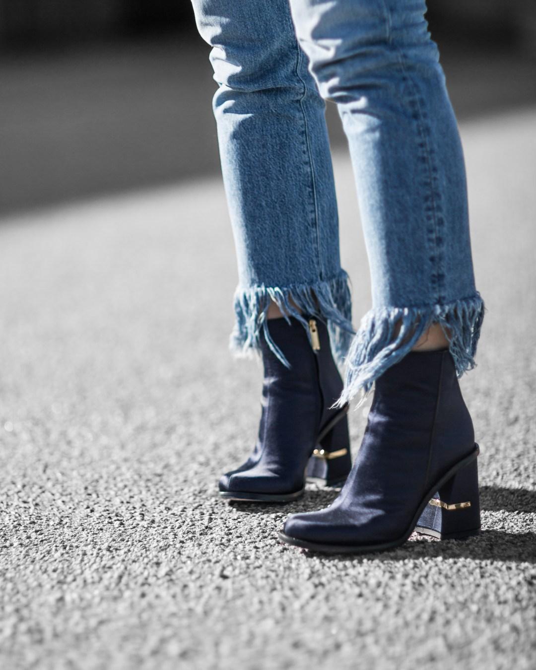 Tibi boots chloe faye 3x1 frayed jeans long sleeve shirt outfit inspiration 05