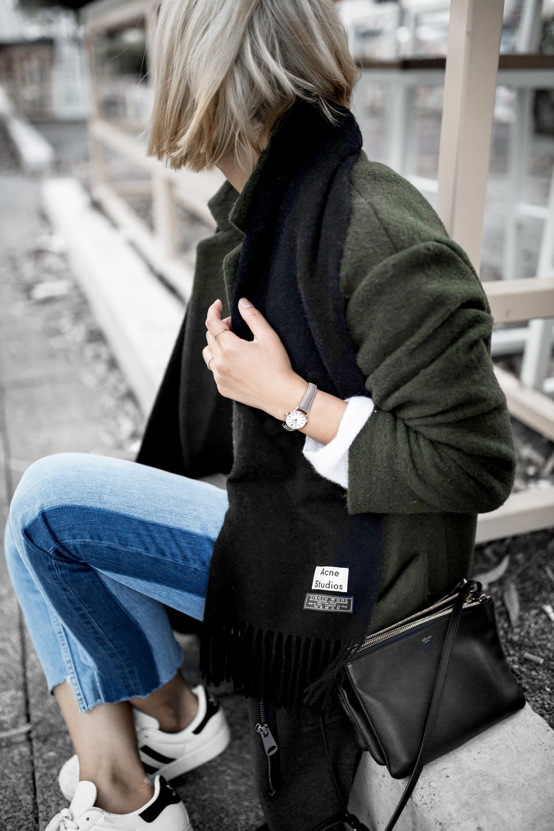 acne-scarf-khaki-coat-stepped-hem-jeans-outfit-inspiration-1-3-copy