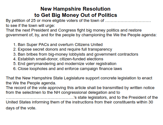 """How to"""" on Town Warrant Petitions - NH Rebellion"""